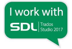 Я работаю с SDL Trados Studio 2017